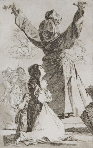 52. Lo Que Puede Un Sastre by Francisco Goya at
