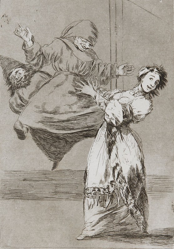 74. No Grites, Tonta by Francisco Goya