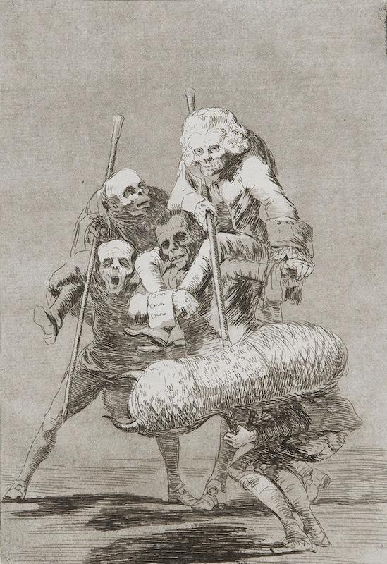 77. Unos á Otros by Francisco Goya
