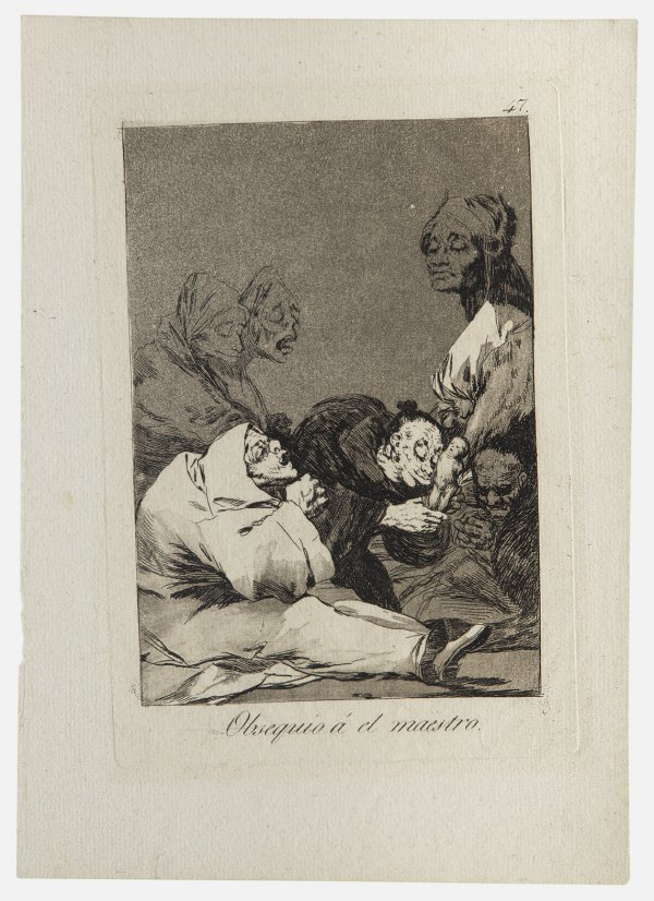 A Fine Impression, In Black Ink, Richly And Skillf by Francisco Goya