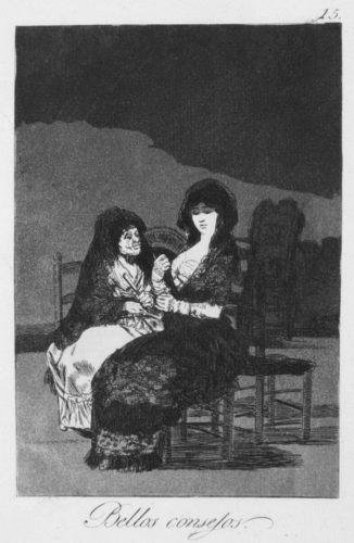 Bellos Consejos (wonderful Advice) by Francisco Goya