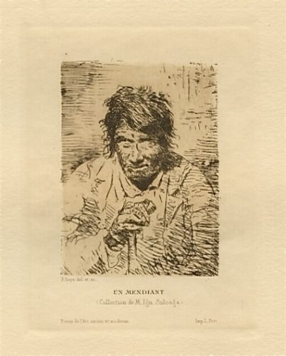 Le Mendiant / The Beggar by Francisco Goya
