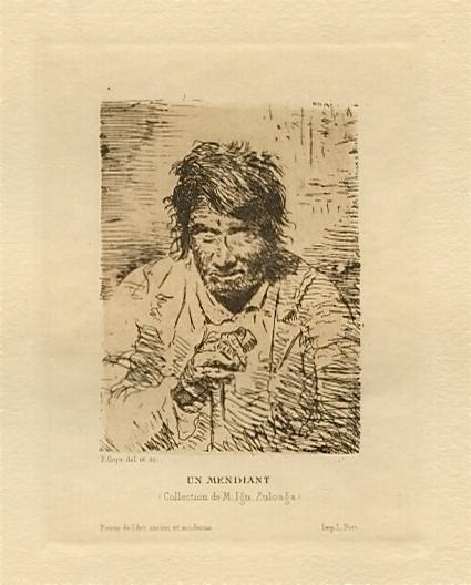 Le Mendiant / The Beggar by Francisco Goya