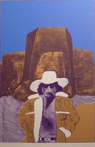 Self Portrait With Hat by Fritz Scholder