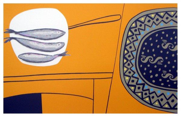 Three Fishes by Geoffrey Robinson