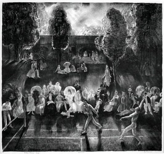 Tennis (tennis Tournament) by George Bellows at
