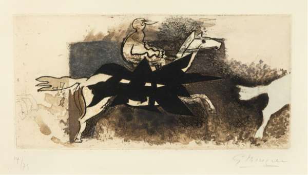 Le Jockey by Georges Braque at
