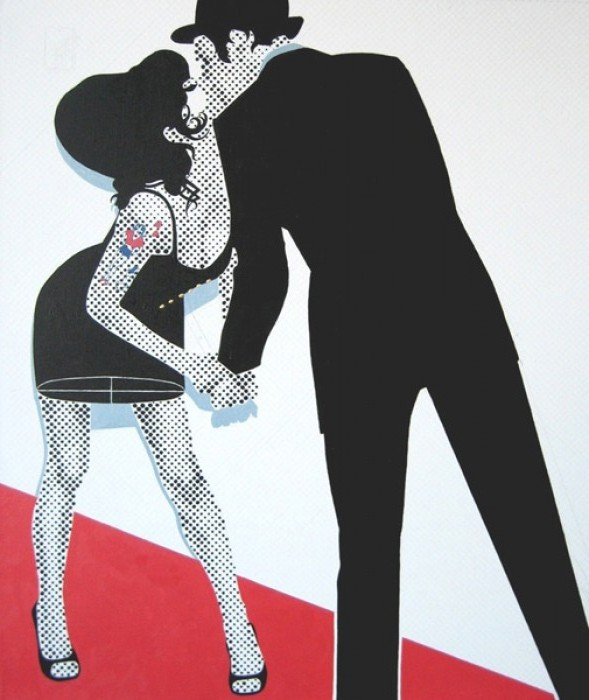 The Kiss by Gerald Laing