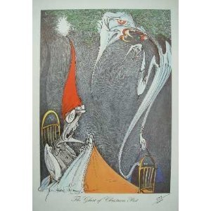 'the Ghosts Of Christmas Past' With Book – Both Items Signed , Print Also Numbered. by Gerald Scarfe