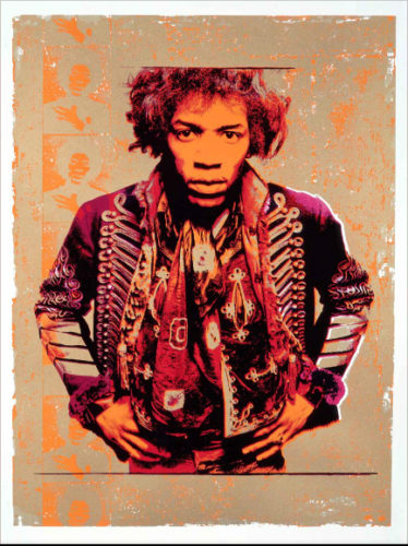 Hendrix Purple & Gold by Gered Mankowitz at RedHouse Originals Gallery