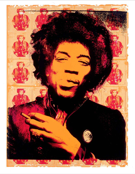 Jimi Hendrix Purple Haze by Gered Mankowitz