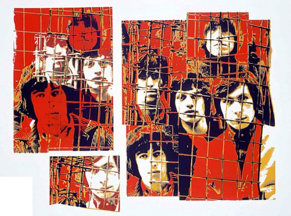 The Rolling Stones, Red Cage by Gered Mankowitz at RedHouse Originals Gallery