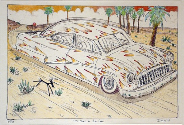 50 Ford de Ese Eme, Hand Painted by Gilbert Lujan
