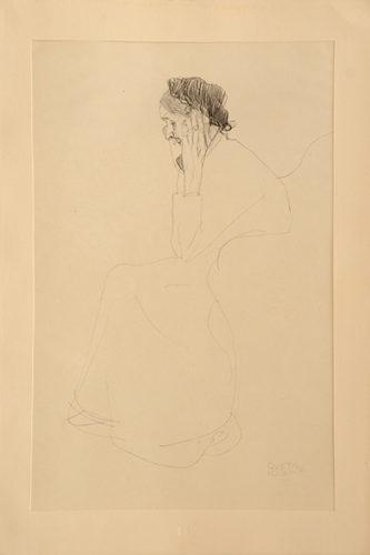 Studie Einer Alten Frau. Study Of An Old Woman. by Gustav Klimt