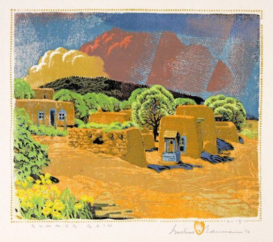 Summer Rain by Gustave Baumann at