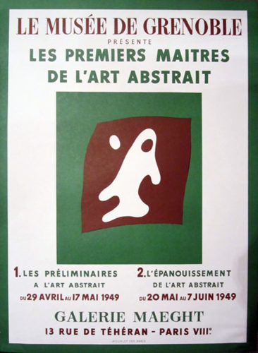 Le Musee De Grenoble, Galerie Maeght by Jean Arp at