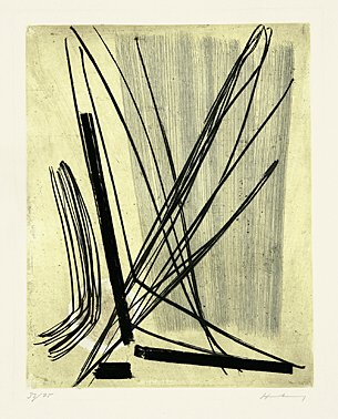 7 by Hans Hartung at Boisseree, Galerie (IFPDA)