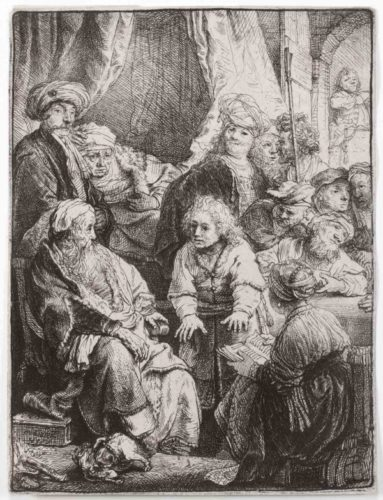 Joseph Telling His Dreams by Harmensz van Rijn Rembrandt