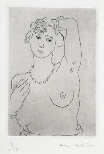 Buste De Femme Avec Collier Et Bracelet by Henri Matisse
