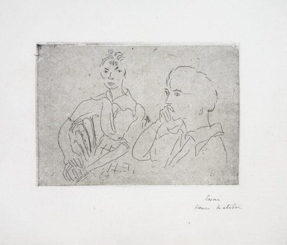 Double Portrait De Josette Gris by Henri Matisse