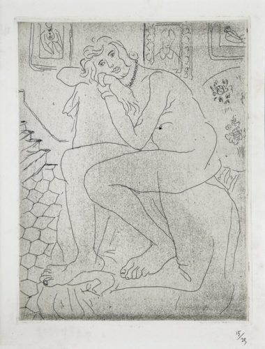 Nu Assis Et Portrait De Mme Cézanne by Henri Matisse