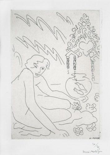 Nu Au Miroir Marocain by Henri Matisse