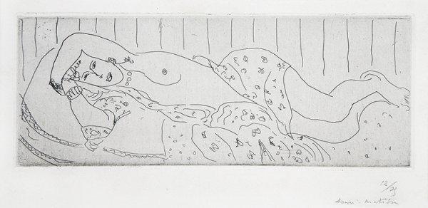 Nu Couché, Drapé Dans Une étoffe Fleurie by Henri Matisse