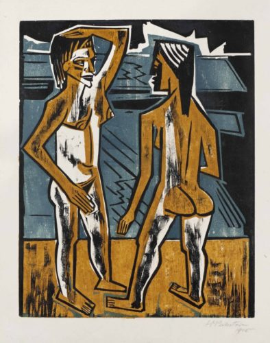 Zwiesprache (Dialogue or Interaction) by Max Pechstein at Simon Theobald Ltd