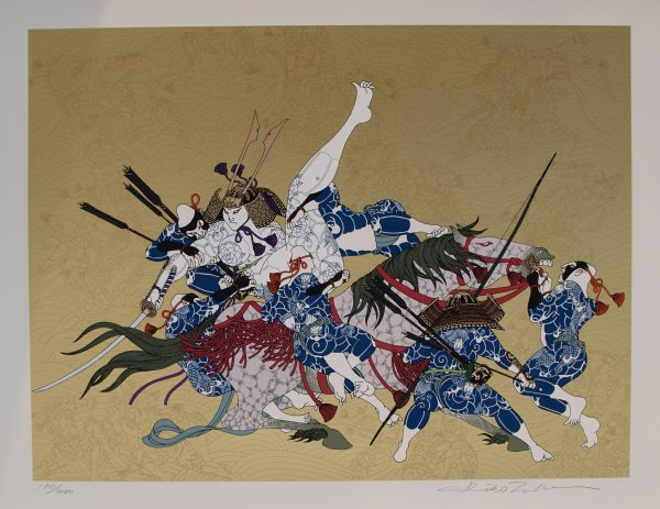 Genpei No. 13 – Last Day Of Kiso Yoshinaka by Hideo Takeda at Hanga Ten - Contemporary Japanese Prints