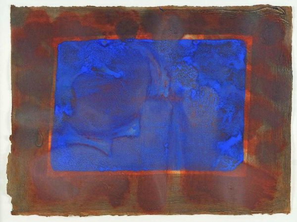 Blue Listening Ear by Howard Hodgkin