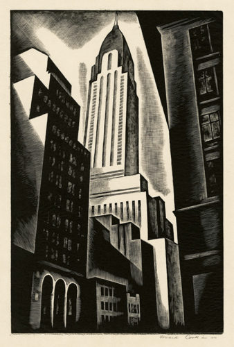 Chrysler Building by Howard Cook at Howard Cook