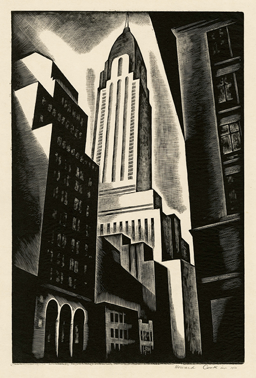 Chrysler Building by Howard Cook