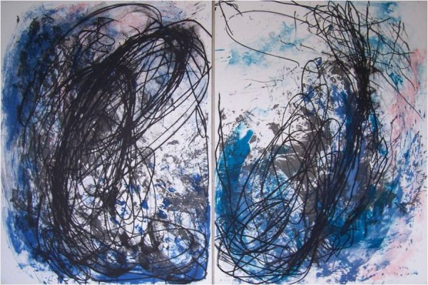 Untitled, Diptych by Ian McKeever