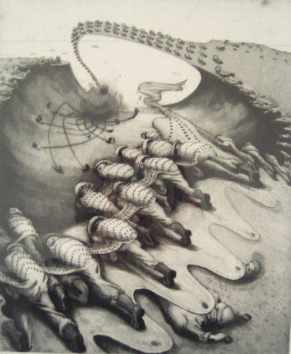 War by Inka Essenhigh at