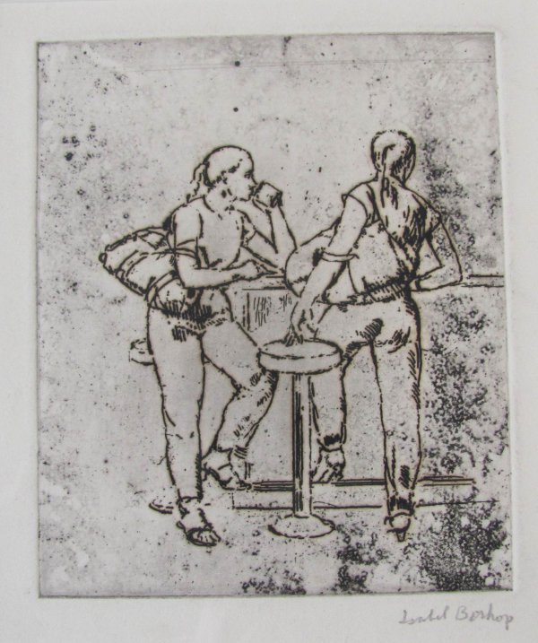 Study For Girls At Counter by Isabel Bishop