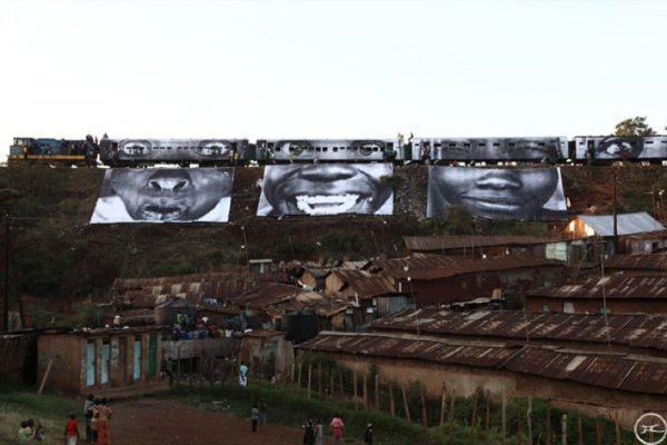 28 Millimètres, Women Are Heroes – In Kibera Slum, Train Passage 1 by JR at