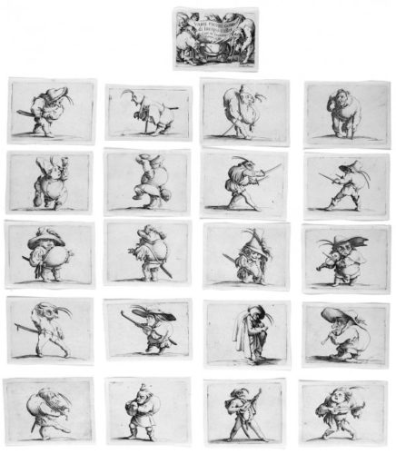 Les Gobbi, The Hunchbacks by Jacques Callot at
