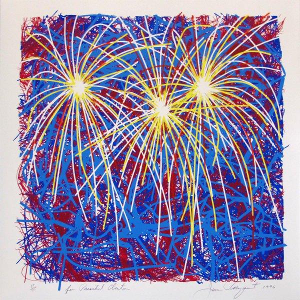 Fireworks For President Clinton by James Rosenquist