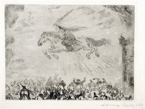 Exterminating Angel (l'ange Exterminateur) by James Ensor at