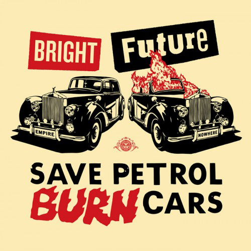 Bright Future (red/black/cream) by Jamie Reid & Shepard Fairey