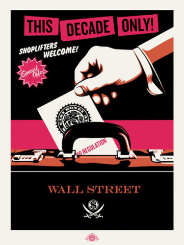 Shoplifters Welcome (pink/cream/black) by Jamie Reid & Shepard Fairey