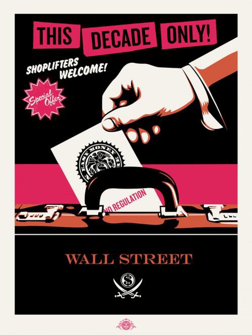 Shoplifters Welcome (pink/cream/black) by Jamie Reid & Shepard Fairey