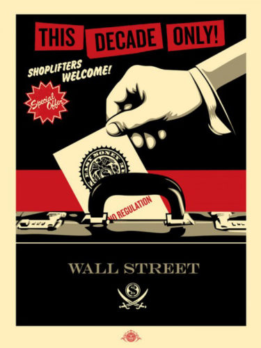 Shoplifters Welcome (red/black/cream) by Jamie Reid & Shepard Fairey