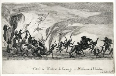 Le Combat A La Barriere (the Combat At The Barrier) by Jacques Callot at Harris Schrank Fine Prints (IFPDA)