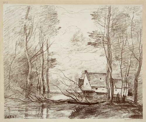 Le Moulin De Cuincy Pres Doual by Jean-Baptiste-Camille Corot at