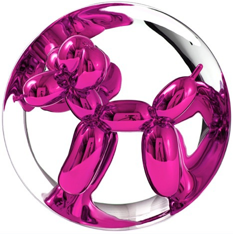 Balloon Dog (magenta) by Jeff Koons