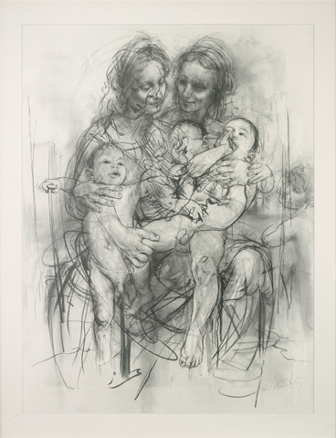 Reproduction Drawing Iv (after The Leonardo Cartoon) by Jenny Saville at