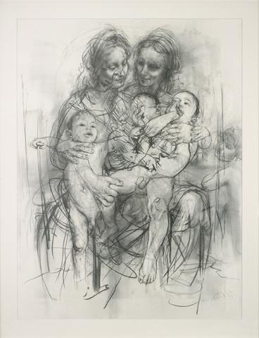 Reproduction Drawing Iv (after The Leonardo Cartoon) by Jenny Saville RA