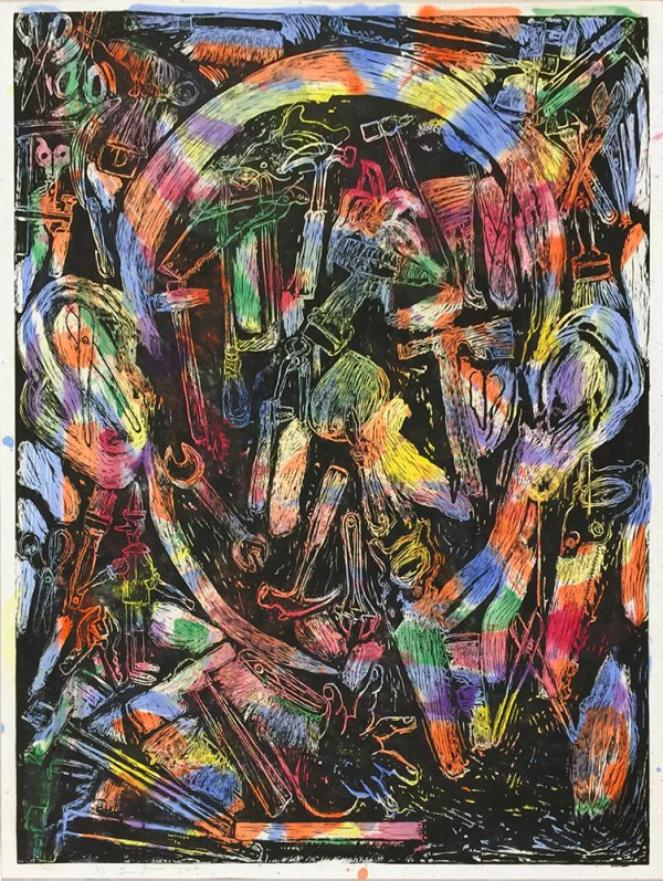 The Bees And Their Merriment by Jim Dine