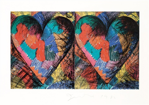 Two Louisiana Hearts by Jim Dine
